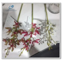 Silk Dendrobium Orchid flowers small pick