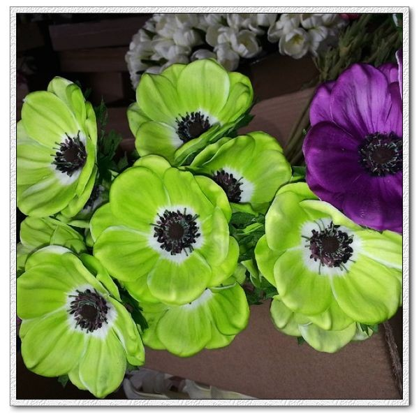 Anemone artificial flowers real touch pu flowers anemone silk flowers artificial flowers real touch flowers mightylinksfo