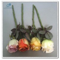 Silk rose bud short stem