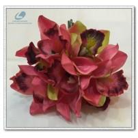 Silk Cymbidium Orchid Bunch