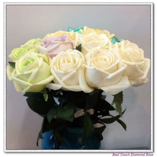 real touch flowers, artificial flowers, wedding roses,silk flowers
